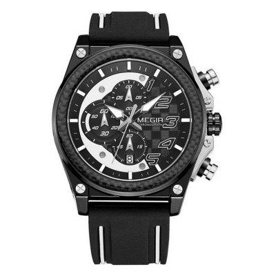 Men's Waterproof Timing Automatic Date Motion Simulated Quartz Watch