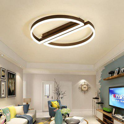 Simple Duble Semi-Circular Stitching Ceiling Lamp US 110-120V for Bedroom