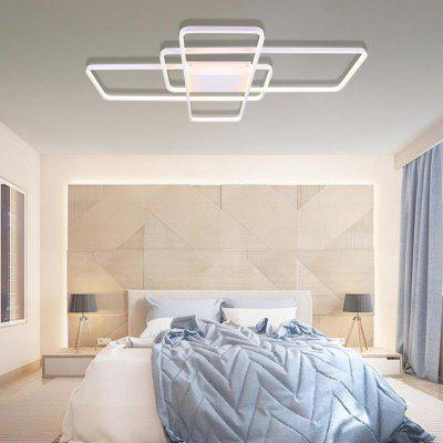 Simple Atmosphere Rounded Square Ceiling Lamp US 110-120V for Living Room