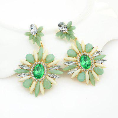 Colorful Flower Drop Earring For Ladies