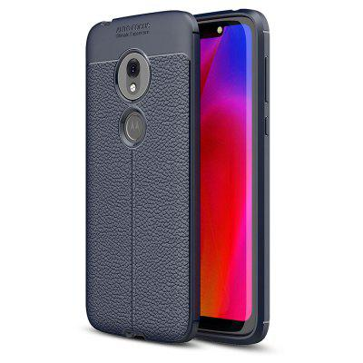 Luxury Lichee Grain Anti-Drop Soft TPU Case for Motorola Moto G7 Play