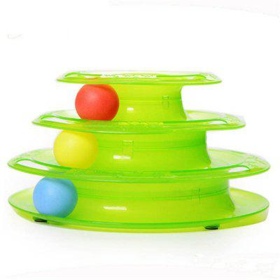 Funny Pet Cat Intelligence Drielagen Play Disc Ball Toy
