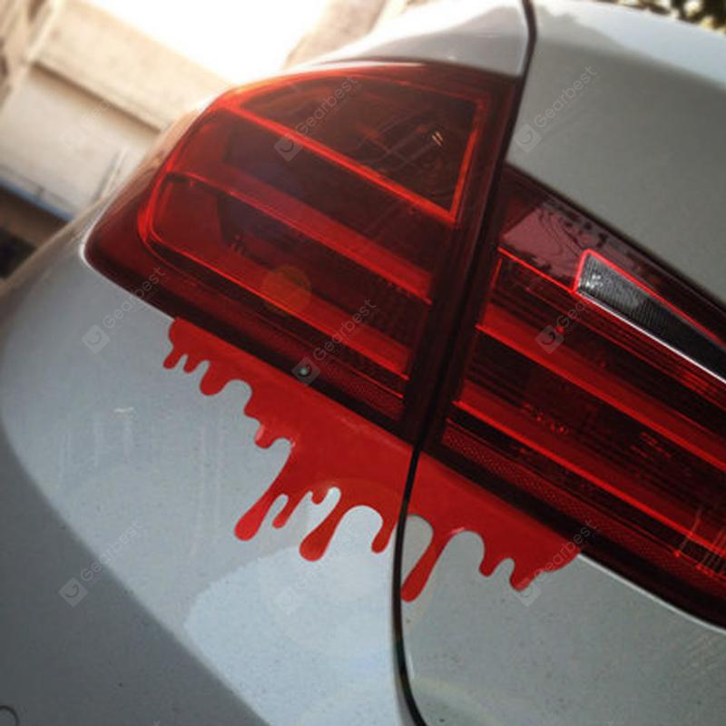 1PC Red Blood Reflective Car Modification Decal