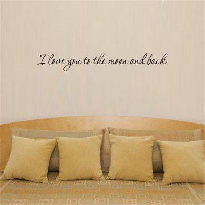 I Love You To The Moon and Back Art Apothegm Home Decal Wall Sticker