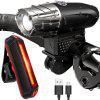 Waterproof Bicycle Headlight Taillight - BLACK