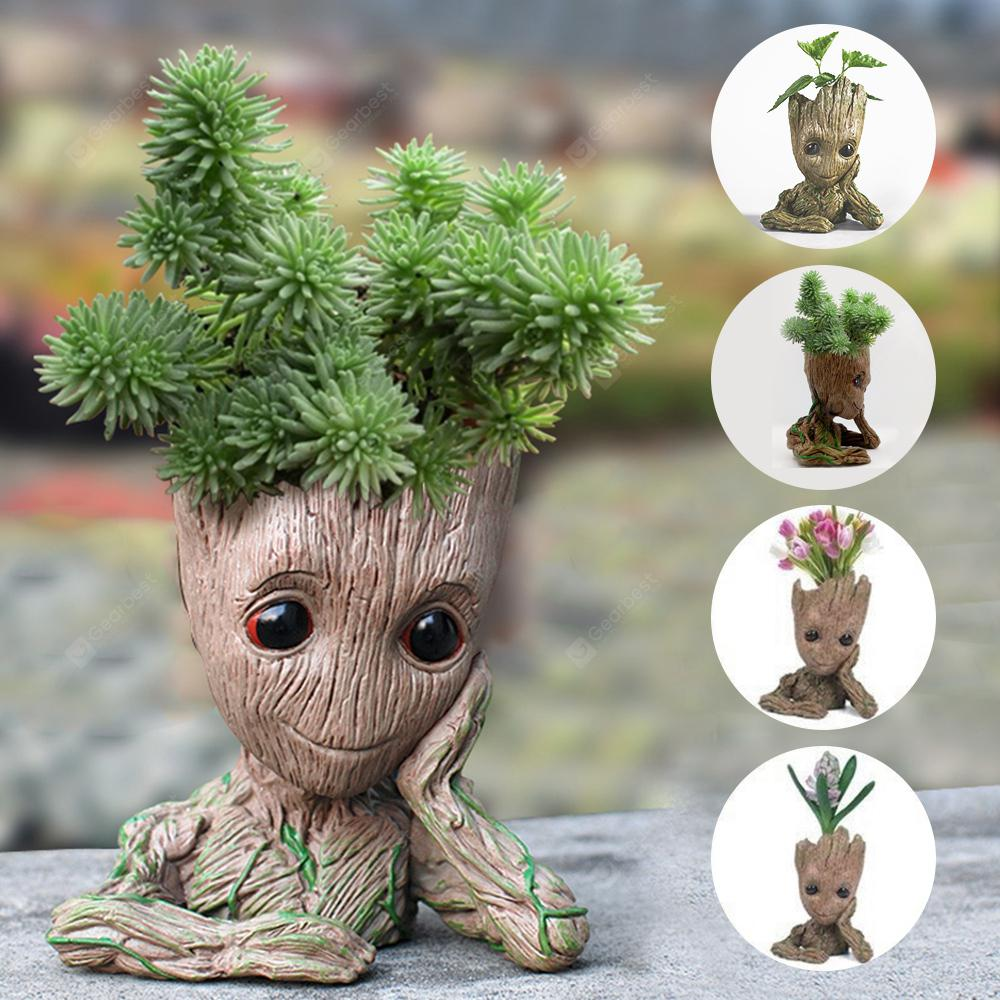 Tree Man Flower Pot Doll Model Gift Toy - Multi-A