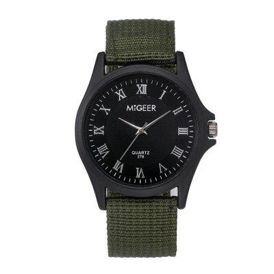 Herrenmode Casual Nylon Quarz Armbanduhr