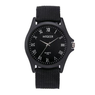Herenmode casual nylon quartz horloge