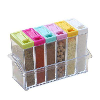 Shaker Seasoning Bottle Jar Condiment Storage Container Kitchen Food Box