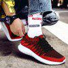 RAX Men Flying Woven Upper Trend Light Breathable Casual Shoes - RED