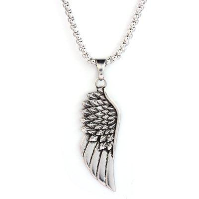 SHARKBABY  Feather Men Necklace