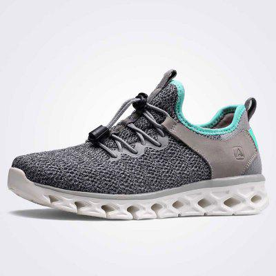 HUMTTO Women Breathable Lightweight Leather Mesh Sneakers Jogging Casual Shoes