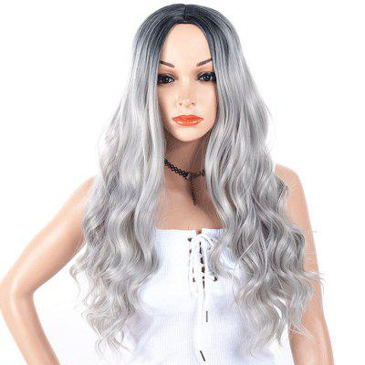 Central Parting Hair Style Big Wave Wig