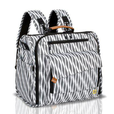 ALLCAMP Zebra Diaper Bag Large Support Baby Stroller Converted Into A Tote Bag