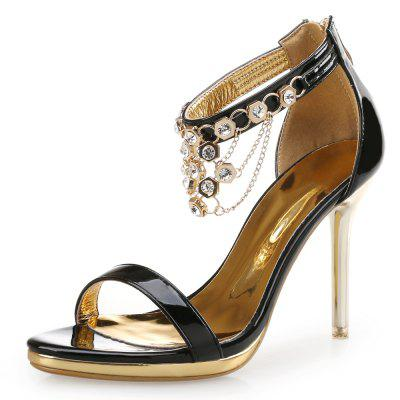 Small Fresh High Heel Sexy Rhinestone Patent Leather Sandals (BAOYAFANG) Buffalo Prices for goods