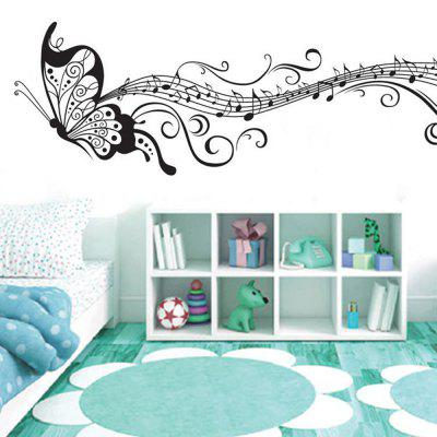 Black Butterfly Flying Dance Removable PVC Transparent Film Wall Sticker