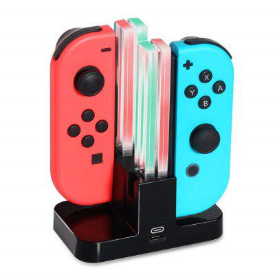 4 in 1 Joy Con Controllers LED Charging Dock Station for Nintendo Switch