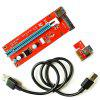 New PCIE 1X To 16X Video Card Extension Cord SATA Power Supply Adapter Card - RED
