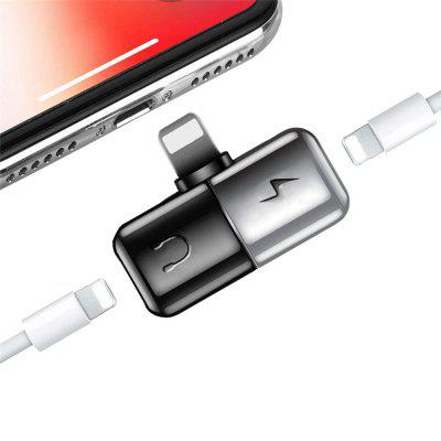Dual Ports Headphone Audio and Chargering Adapter for iPhone Xs/Xs Max/XR/ X/8/7