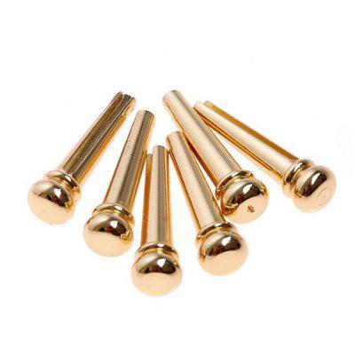 Guitar Bridge Pins Accessories 6PCS Brass Guitar Bridge Pins String
