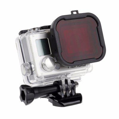 Waterproof Case Lens Filters for GoPro Hero 4 3+/4 Black Silver Action Camera