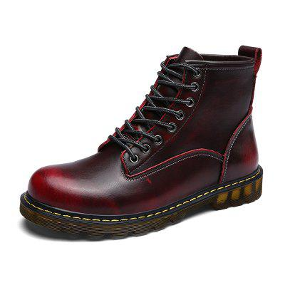 Men's Motorcycle Boots Men Ankle Boot Man Oxfords Shoes