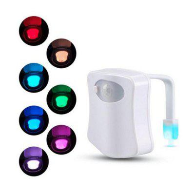 Motion Sensor Toilet Seat Night Light 8 Colors For Toilet Bowl WC Toilet Light