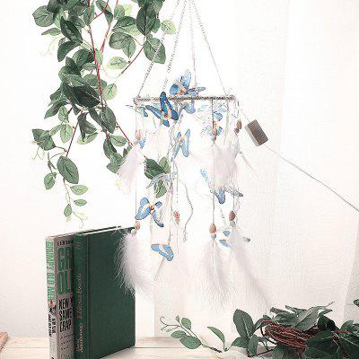 DIY Material Package Blue Butterfly String Lights Dream Catcher Gift