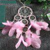 Pink Multi-Ring Crystal Dream Catcher Wedding Decorations Indoor Pendant - PINK