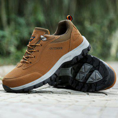 Men Hiking Shoes Suede Leather Waterproof Outdoor Trekking Shoes