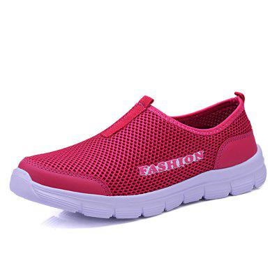 Women Breathable Mesh Shoes Lightweight Sneakers Casual Slip on Flats