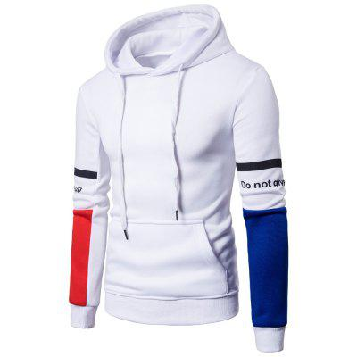 Hommes Nouveau Casual Hooded Pullover Pull Fashion Fashion manches Colorblocked