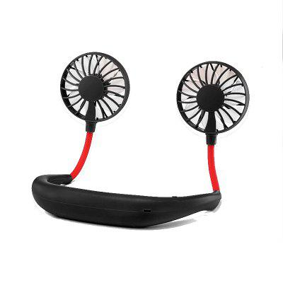 Portable Mini Double Wind Head Neckband Fan