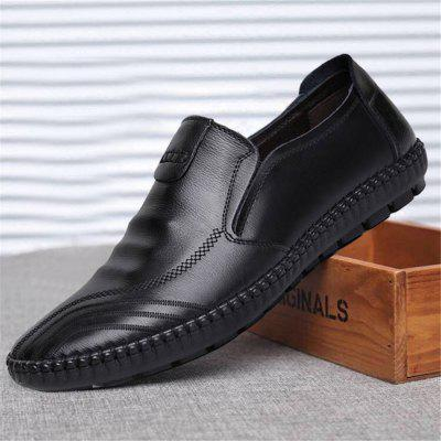 Homens Sola Macia Comfy condução Loafers Slip On Casual Shoes