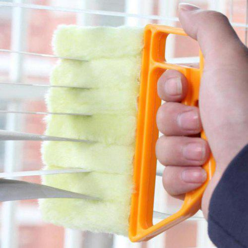 Gocomma Window Cleaning Brush Air Conditioner Duster Cleaner Washable Yellow