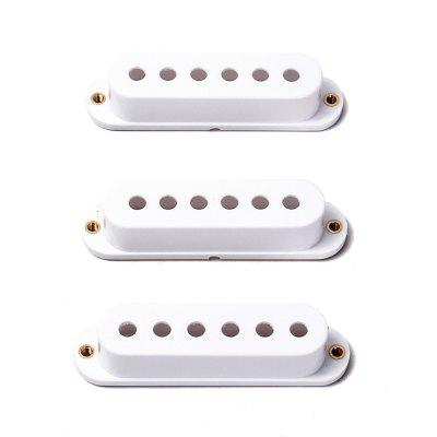 White ST Style Guitar Pickup Covers 3 Single Coil