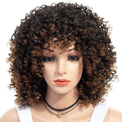 African Small Curl Wild-Curl Up Short Wig
