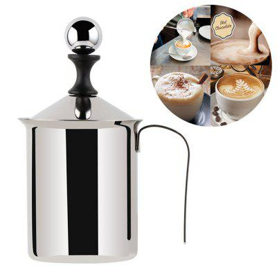 Milk Frother 400/800ML Stainless Steel Double Mesh Coffee Creamer Foamer Maker