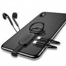 4 in 1 Phone Ring Holder Earphone Connector Charger Adapter for iPhone