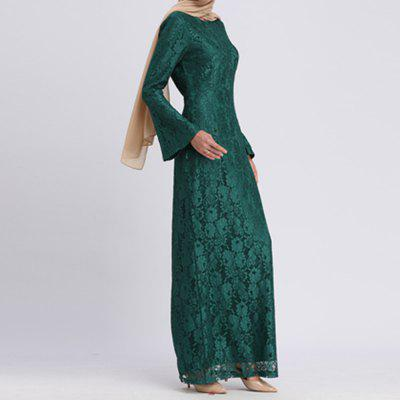 Spring 2019 Horn Sleeve Sleeve Slim Long Sleeve Dress
