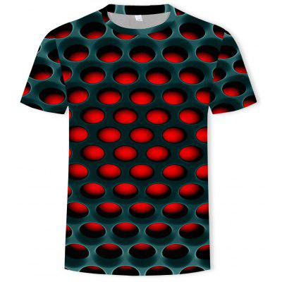 Casual Men's Short Sleeve T-shirt 3D Printing