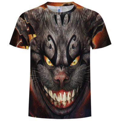 Trend New Fashion 3D Funny Animal Round Neck T-Shirt
