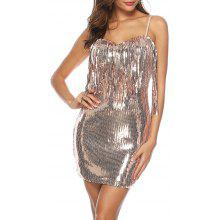 5197bf4e1dbe8 Sexy Strap Backless Sequins with Tassel Club Performance Party Bodycon Dress