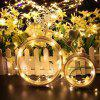 DC12V 20M Copper Wire Lamp Outdoor Starry Sky Birthday Party LED Lights String - WARM WHITE
