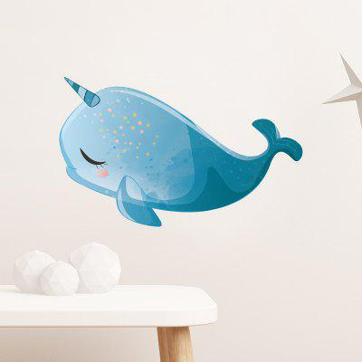 Cute Dolphin Pattern Removable Wall Sticker