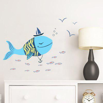 Cute Dolphin Pattern Removable PVC Wall Sticker