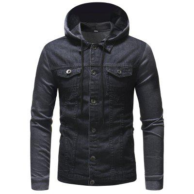 Knitted Hooded Design Men's Casual Hooded  Jacket