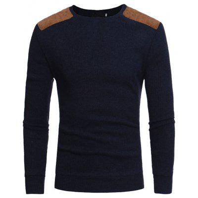 2019  Men's Round Neck Casual Slim Knit Sweater