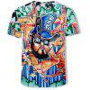 New Doodle Summer 3D Printing Trend Fashion T-shirt - MULTI