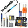 Gocomma 60W Electric Soldering Iron Welding Tool Kit Solder Wire Tweezer - BLACK